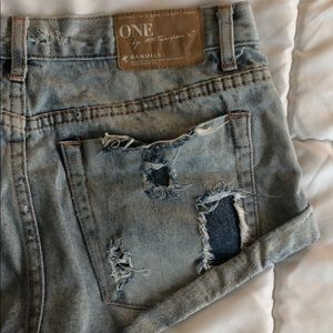 ONE by one teaspoon denim shorts